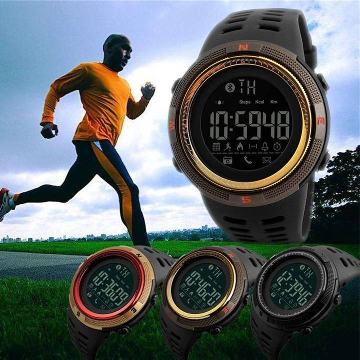 SKM Waterproof Sport Wristwatch Bluetooth Smart Watch Phone Mate For Android IOS as shown one size