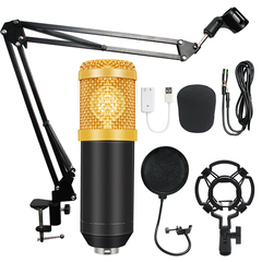 BM-800 Condenser Studio Microphone Vocal Recording KTV Karaoke Audio 3.5mm Wired as shown