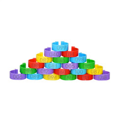 Poultry 25mm Digital Marking Chicken Duck Goose  Supplies Poultry Breeding 00pcs Color random as shown