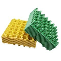 10 pcs Farm Egg Tray Egg Tray Transportation And Storage Of Eggs Recycling Plastic  Color random as shown