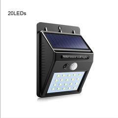 Solar Panel Powered LED PIR Motion Sensor Lamp Night Light Waterproof Outdoor t Security Ligh as shown one size