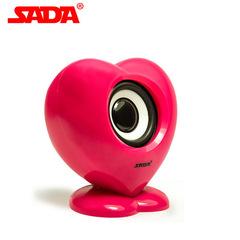 SADA V-112  Mini USB 2.0 Speaker Bass Combination Speaker  for Cellphone Laptop PC red