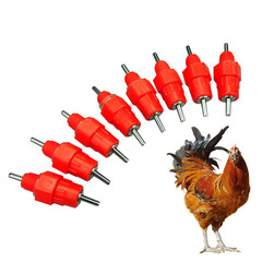 50pcs Water Nipple Chicken Feeders and Drinkers poultry feeding water  Poultry Supply Chicken as shown