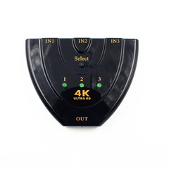 4K*2K 3D Mini 3 Port HDMI Switch 4K Switcher HDMI  3 in 1 out  for HDTV Projector Computer Monitors as shown