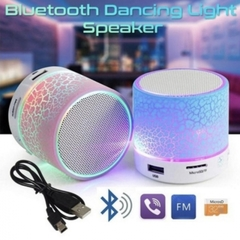 A9 LED TF USB Subwoofer bluetooth Speakers mp3 stereo audio music player pink one size