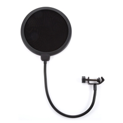 Pop Double Layer Clamp On Microphone Mic 6-Inch For Condenser Microphone as shown