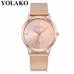 Casual simple hot women's fashion watch rose gold one size