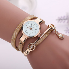 Women Metal Strap Wristwatch Bracelet Quartz watch  Female Fashion gold one size