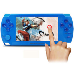 Coolbaby 4.3 inch touch palm PSP game machine 8G memory GBA game console handheld touch screen blue