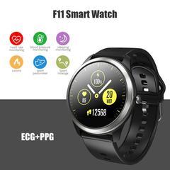 F11 Smart Watch Heart Rate Blood Pressure Monitor  Waterproof IP68 Waterproof Sports black one size