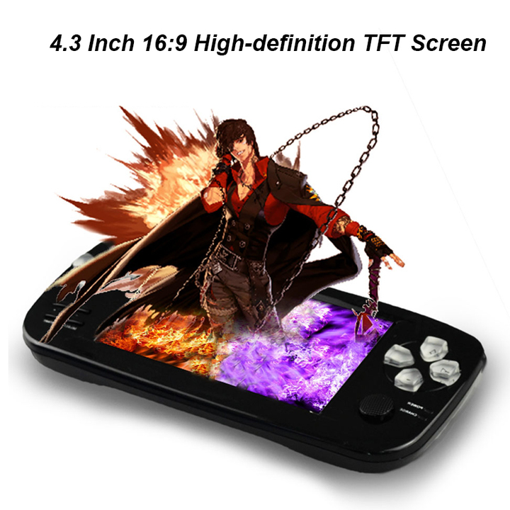 4.3 Inch PAP K3 Plus Game Console Consoles Built-in 3000 Games black