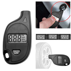 Digital Tire Air Pressure Gauge Tester Keychain Lcd Display Procession Car Measurement Tools black