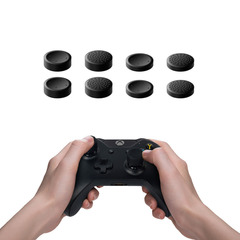 8pcs/set Joystick Caps Replacement Thumb Stick Grips Buttons For Sony PlayStation 4 PS4 Gamepad black one size