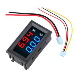 DC 100V/0-10A in Shunt Ammeter Voltmeter Digital Amp Volt Meter 12V 24V CAR 10A