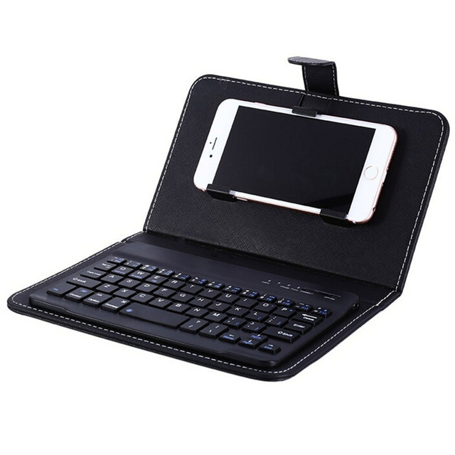 PU Leather Wireless Keyboard Case for iPhone Protective Mobile as shown one size