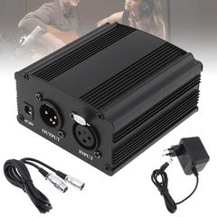 48V Phantom Power Supply with One XLR Audio Cable and AC220V EU Adaptor