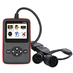 V500 Truck And Car Diagnosic 2 In 1 Obd Obd2 Cr-Hd Device Diagnostic Tool as shown
