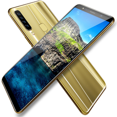 New mobile phone A9 6.1 Inch 4GB+64GB Full screen 8MP+16MP Smart phone Doule SIM gold