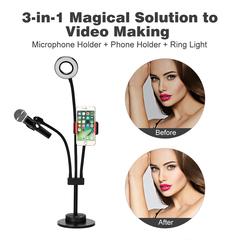 Photography light beauty light fill light W8-01 live stand live black one size