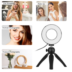 Selfie  Dimmable LED Ring Light For Cell Phone Camera Live Stream Makeup as shown one size