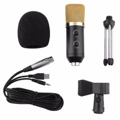 MK-F100TL USB Condenser Microphone With Tripod for Video Recording Karaoke as shown one size one size