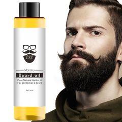 Organic Beard Oil For The Growth Of The Men Beard Grow as shown a