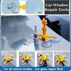 Windshield Repair Kit Car Window Glass Scratch Crack Restore Repair Tool Car Window Screen Polishing as shown