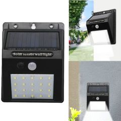 Solar Power Light 20 LED Outdoor Motion Sensor Garden Decoration Waterproof Wall Lamp as shown 0.5w