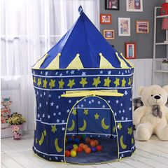 Portable Foldable Children Boy Cubby Play House Kids Gifts Outdoor Toy Tents Castle BLUE a