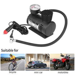 Portable Electric Inflator Black 12V 300 PSI Mini Electric Air Compressor Kit Car Tire Inflator as shown