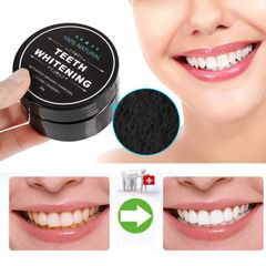 Charcoal Teeth Whitening Set Toothpaste Strong Formula Whitening Tooth Powder as shown