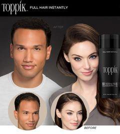 27.5g Toppik hair building fiber and sprayer to enhance keratin hair fiber as shown a