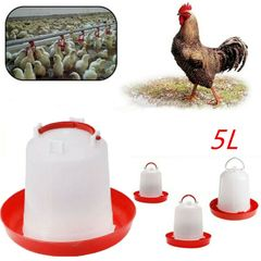 5L Plastic Feeder Chicken/Poultry/Chick/Hen Drinker Food Water Feeding Farm Animal Supplies as show
