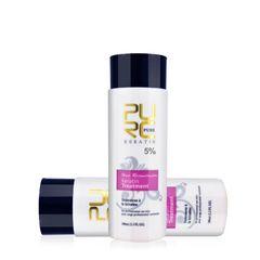 PURC Keratin Hair Repair Treatment 5% Hair Straightener Clarifying Shampoo Supple Smooth as picture shown 100ml