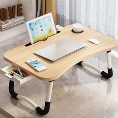 Folding Table Laptop Stand Holder Study Table Desk Wooden Foldable Computer Desk 如图所示 As shown