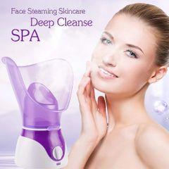 Facial Face Steamer Deep Cleanser Mist Steam Sprayer Spa Skin Vaporizer Promote Blood Circulation purple