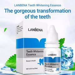 LANBENA Teeth Whitening Essence Liquid Oral Hygiene Cleaning Remove Plaque Stain Brighten Tooth as picture shown