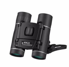 40x22HD Binoculars 2000M Long Range Folding Mini Telescope for Hunting Sports Outdoor Camping Travel Black