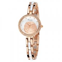 Genuine kimio watch Ms. fashion casual quartz watch new diamond female form waterproof fashion Rose gold&White