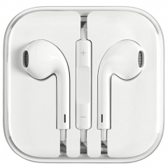 OEM Apple in ear Earphone Earpods with Mic&Volume Control Earphone for iphone white white