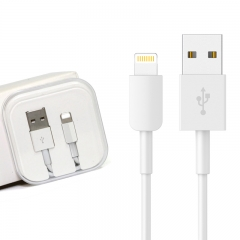 Fast Charger Lightning 1M Cable Data&Sync Phone Cables for iphone 6 6s 5s 5 ipad mini4 & air2 white