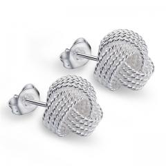 Luxury Women 925 Sterling Silver Earrings Fashion New Style Stud Jewlery Hot Sale Gift silver normal