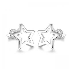 Women Love 925 Sterling Silver Earrrings Luxury Star Style Stud Jewelry Hot New Gift for Women Girls silver normal