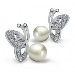 Women Fashion 925 Sterling Silver Earrings Hot Sales New Pearl Jewelry Crystal Stud Earrings silver 2mm