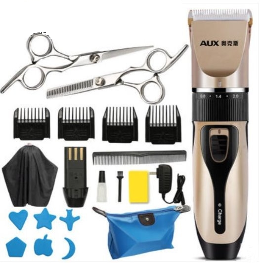High Quality Professional  Electric Hair Clipper Cutting Machine for Adult Baby Super Silence(gold) gold one size