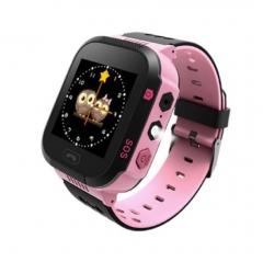 T09 Multilingual Baby Kids Child Smart Watch GPS Tracker Monitor SOS Call Camera Lighting Pink