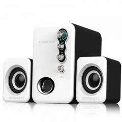Subwoofer Speaker 3D Sound USB Power Multimedia Speaker For Computer PC Laptop white one size