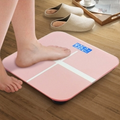 USB Charging Digital Electronic Glass LED Night Vision Weighing Body Scales Bathroom lucid rose gold one size