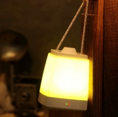 LED Portable  Nightlight USB Charging Emergency Light For Indoor Outdoor Yellow light 16cm <=5W