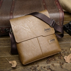 2017 New Men's Leather Single Shoulder Bag Cross-body Man Bag khaki one size